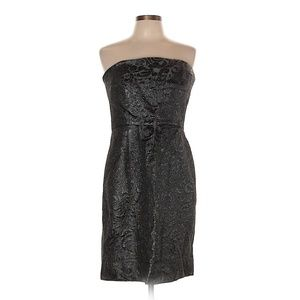 Shoshanna Classic Dark Grey Strapless Dress